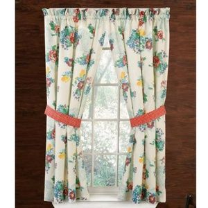 The Pioneer Woman Country Garden Tie Curtain Panel